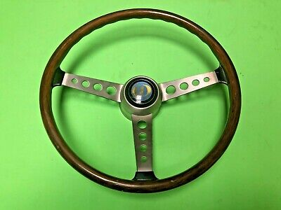 F.I.V. Secura BMW 1600 & Others Wood Steering Wheel NOS Rare