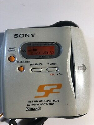SONY Portable Walkman Minidisc recorder MZ-S1  G-Protection  Water resistant