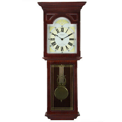New Bedford Clock Collection Redwood 23 Inch Readwood Oak Finish Wall Clock