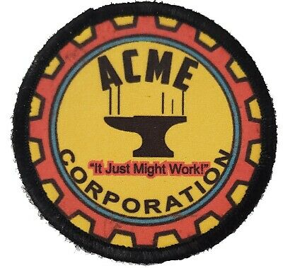 Looney Tunes ACME CORPORATION Morale Patch Tactical Army Military Hook Flag USA