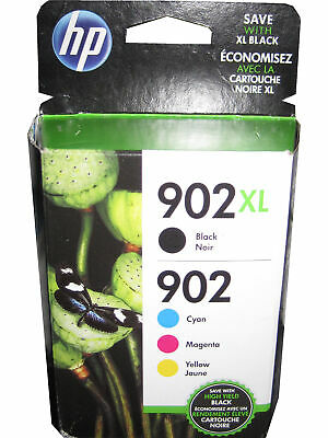 HP T0A39AN 902XL 902 High Yield Black and Standard Tri-Color Ink Cartridges OEM