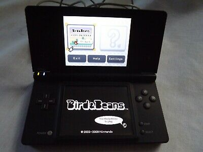 Nintendo DSi Handheld Game Console Black with Charger -Select Button Not Working