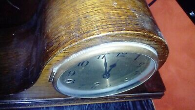 Antique mantel clock, wooden case, Wurtenberg made, Westminster chime