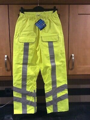 Waterproof / Windproof / Breathable Hi Vis Over Trousers Size Medium BNWT