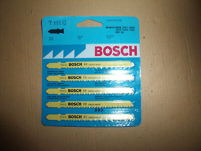 5 x Bosch T111C woodcutting blades.Swiss made..new in sleeve
