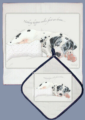 Great Dane Dish Towel & Pot Holder Set