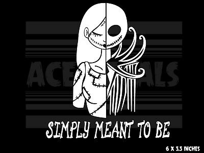 The Nightmare Before Christmas - Jack and Sally - Laptop Car decal sticker
