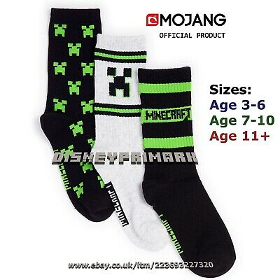 Official MINECRAFT CREEPER SOCKS With Grippers Cosy Fluffy Gaming Footwear Gamer