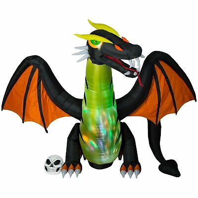 Halloween Air Blown Inflatable 12 FT ANIMATED Fire & Ice Dragon