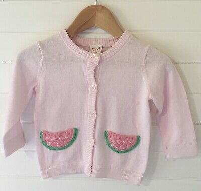 Seed Baby Knit Watermelon Cardigan - Size: 00 / 3-6 months (#D2500)