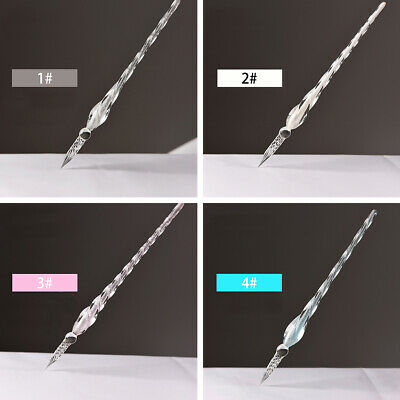US Vintage Refinement Glass Signature Pen Crystal Dip Sign Pens for Calligraphy