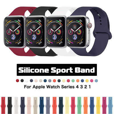 Silicone iWatch Strap for Apple Watch Band 38/42/40/44mm Series 5/4/3/2/1 Sport