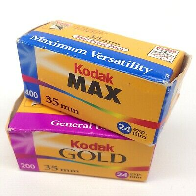 Kodak GOLD and Kodak MAX 35mm Film  Expired in 2001 & 2002            LB-18