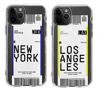 Air Tickets New York Los Angeles Transparent Case For iPhone 11 Pro Max XS XR