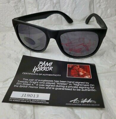 Tuesday Night *Kristen* Nightmare On Elm Street 4 Signed Sunglasses Bam Box COA