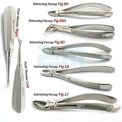 Forceps Tooth Extracting Extraction Root Loosening Lower Upper Molars Elevators