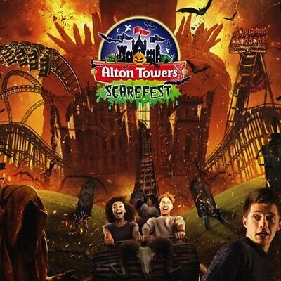 2 x ALTON TOWERS TICKETS Thursday 10th OCTOBER 10/10/19 ACTUAL TICKETS SCAREFEST