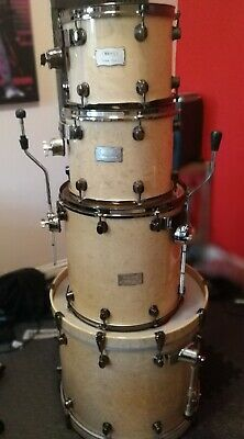Mapex Orion Drum Kit With Protection Racket cases.