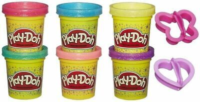 PLAY DOH SPARKLE - 6 Tubs and 2 Cutter Assortment - FREE AND FAST SHIP