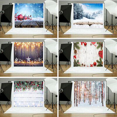 Christmas Photography Backdrops Winter Snow Baby Newborn Photo Studio Background
