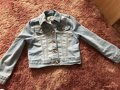 Tu Girls Denim Jacket 5-6 Yrs