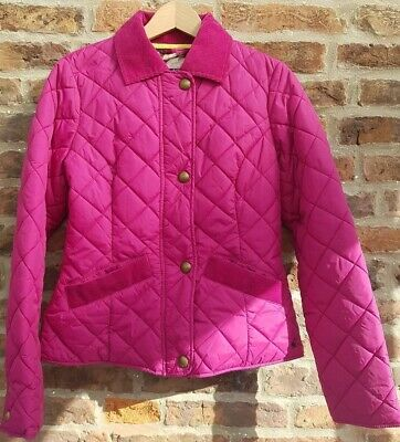 🔥🔥 JOULES Ladies Pink Fitted Quilted Country Jacket Coat 10 Tom Joules Hampton