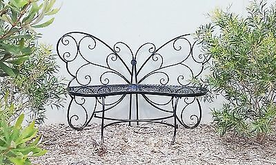 French butterfly black garden bench seater outdoor   unique design new