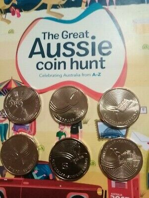 Australia 2019 $1 Dollar Alphabet Aussie coin hunt A F I M S X UNC from RAM bag