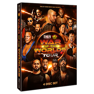 Official ROH Ring of Honor - War Of The Worlds 2019 Tour - 4 Event DVD Set
