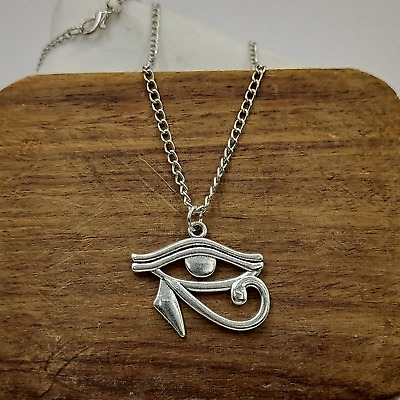 Unisex Eye of Horus Pendant Necklace - Ancient Egyptian Eye - UK Stock