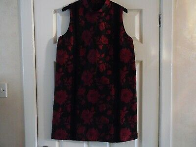 French Connection Red / Black Floral  Dress Size 10 Bnwt Style 71Gxm Rrp £120