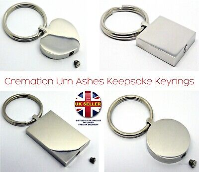 Cremation Urn Ashes Keyrings - Memorial Keepsake - Funeral Keychain