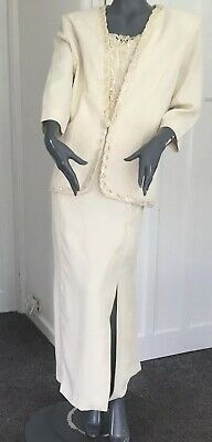 XL Vintage Mother of the Bride 2 piece Maxi dress and Jacket Set