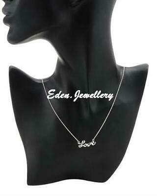Chateau D'Argent LOVE Necklace Well Made in 925 Sterling Silver Imported from US