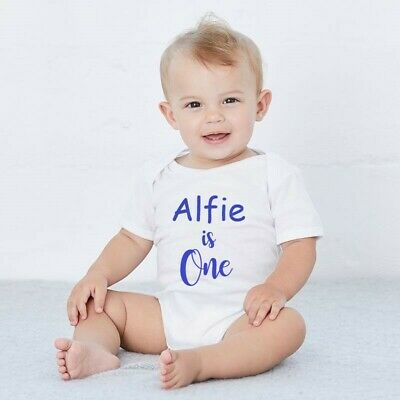 Personalised First Birthday White Baby Boy/Girl 1st Vest Outfit One Cake Smash