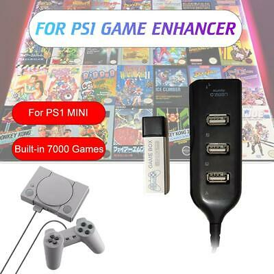 128G PS1 MINI True Blue Mini Crackhead Pack For Playstation Built-in 7000Games 。