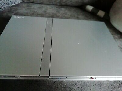 Sony PlayStation 2 PS2 Slim Unit Only - Silver Satin (Fairly Good Condition)