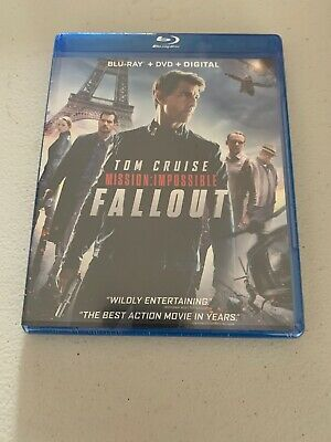 Mission: Impossible - Fallout  (Blu Ray + DVD + Digital HD) w/ No SLIP COVER