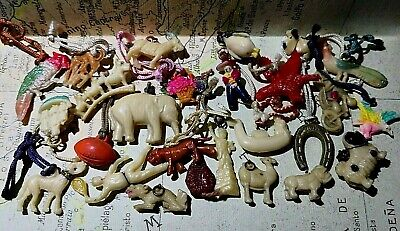 Vintage Cracker Jack Celluloid Object / Animal Lot Charms Prizes Collectible