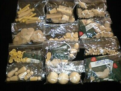 A large Lot Of Wood Pieces New Some Still in Bags