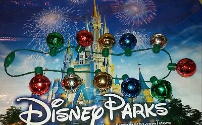 DISNEY Mickey Mouse Christmas Holiday Jingle Bells Light Up Glow Necklace ~ NWT