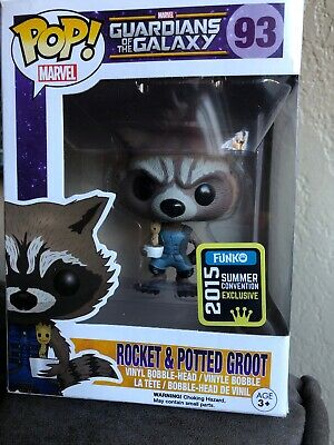 Rocket & Potted Groot Guardians Of The Galaxy - Funko Pop! Figure No. 93 SDCC