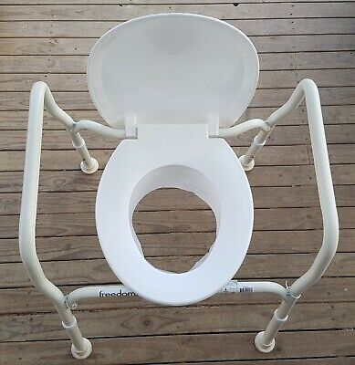 FREEDOM HBA 400 ADJUSTABLE OVER THE TOILET SEAT CHAIR in VGC