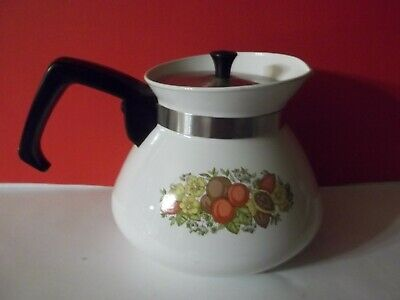 Vintage Corning Ware 6 cup Spice of Life Teapot Made In Canada