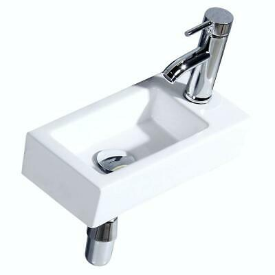 Bathroom Corner Wall Mount Sink Ceramic for Small Bathroom Right Hand Sink Only