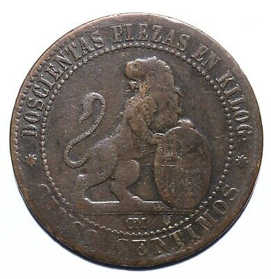 1870 Spain Five 5 Centimos - Provisional Government