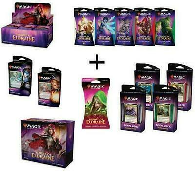 MTG Magic Throne of Eldraine Booster Box Bundle Brawl PW & Theme Decks Collector