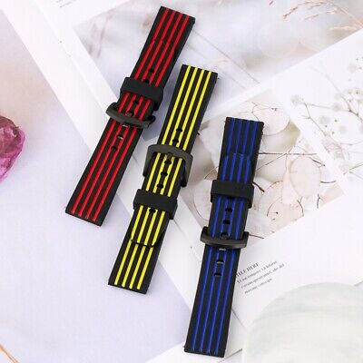20/22/24MM Sport Silicone Watch Strap Wrist Replacement Rubber Band Bracelet