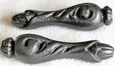 Original Art Nouveau Cast Iron Cistern Pull, 1 Pair