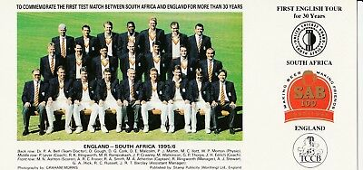 4 cricket postcards England teams 1995/6 South Africa 2000 West Indies 2000